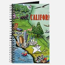 California Map Blanket Journal