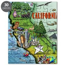 California Map Blanket Puzzle