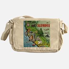 California Map Blanket Messenger Bag