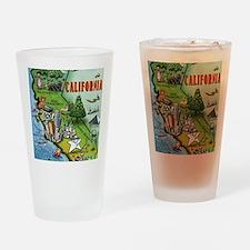 California Map Blanket Drinking Glass