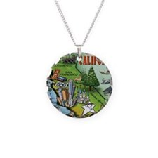 California Map Blanket Necklace