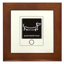 Tweet your Weiner Right! Framed Tile