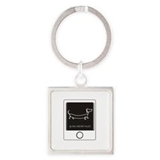 Tweet your Weiner Right! Square Keychain