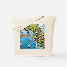FloridaMap Blanket Tote Bag