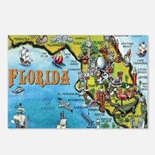 FloridaMap Blanket Postcards (Package of 8)