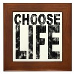 Choose Life Distressed Framed Tile