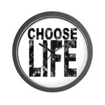Choose Life Distressed Wall Clock