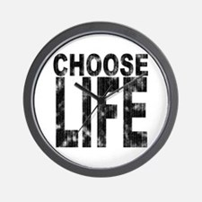 Choose Life Distressed Wall Clock