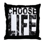 Choose Life Distressed Throw Pillow