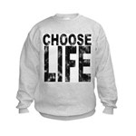 Choose Life Distressed Kids Sweatshirt