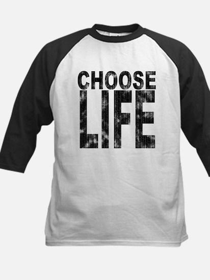 Choose Life Distressed Kids Baseball Jersey