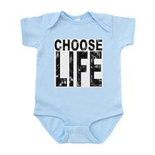 Choose Life Distressed Infant Bodysuit