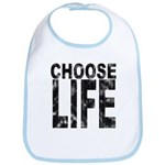 Choose Life Distressed Bib