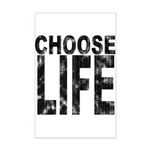 Choose Life Distressed Mini Poster Print