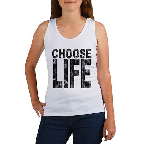 Choose Life Distressed Women's Tank Top