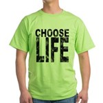 Choose Life Distressed Green T-Shirt