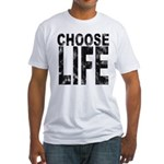 Choose Life Distressed Fitted T-Shirt