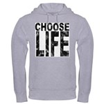 Choose Life Distressed Hooded Sweatshirt