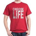 Choose Life Distressed Dark T-Shirt