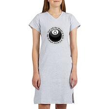 magic-8-ball-black-tshirt-front Women's Nightshirt
