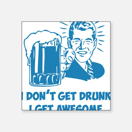 "beerGuyB Square Sticker 3"" x 3"""