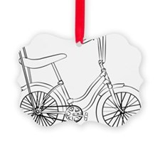 OldSchool bicycle Picture Ornament