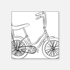 "OldSchool bicycle Square Sticker 3"" x 3"""