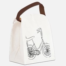 OldSchool bicycle Canvas Lunch Bag