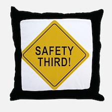 Safety_Third Throw Pillow