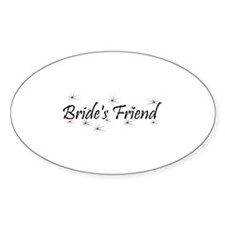 Bride's Friend - Purple Haze Oval Decal