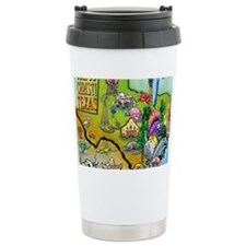 Corpus Christi TEXAS Map Blanke Travel Mug