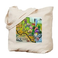 Corpus Christi TEXAS Map Blanket Tote Bag