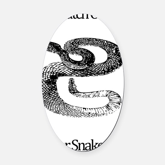Watch Out For Snakes Oval Car Magnet