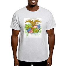 Ireland American Flags Ash Grey T-Shirt