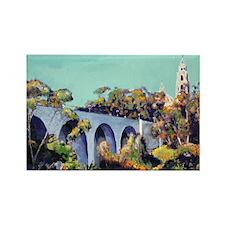 Cabrillo Bridge Balboa Park RD Ri Rectangle Magnet