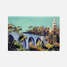 Cabrillo Bridge Balboa Park RD Ri Rectangle Magnet