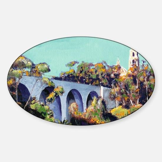 Cabrillo Bridge Balboa Park RD Ricc Sticker (Oval)