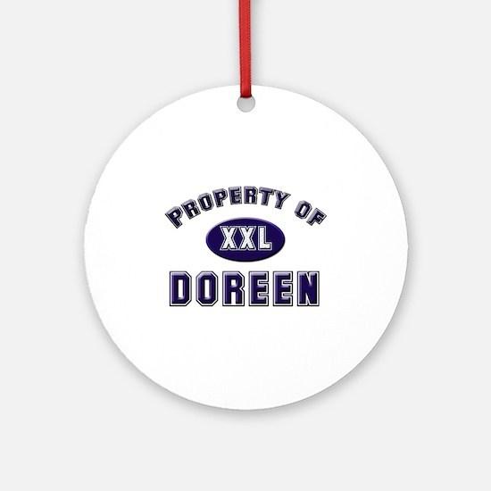 Property of doreen Ornament (Round)