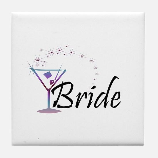 Bride - Purple Haze Martini Tile Coaster