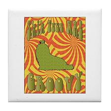 Groovy Shih Tzu Tile Coaster