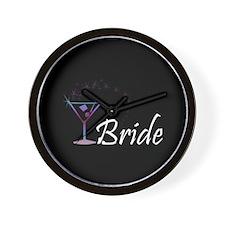 Bride - Purple Haze Martini Wall Clock