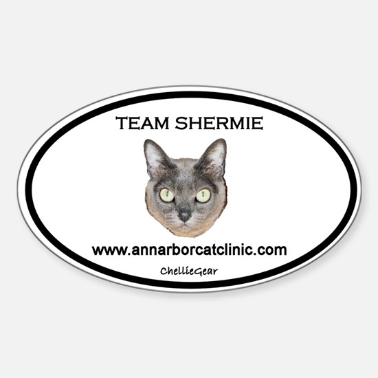 """Team Shermie"" Oval Decal"