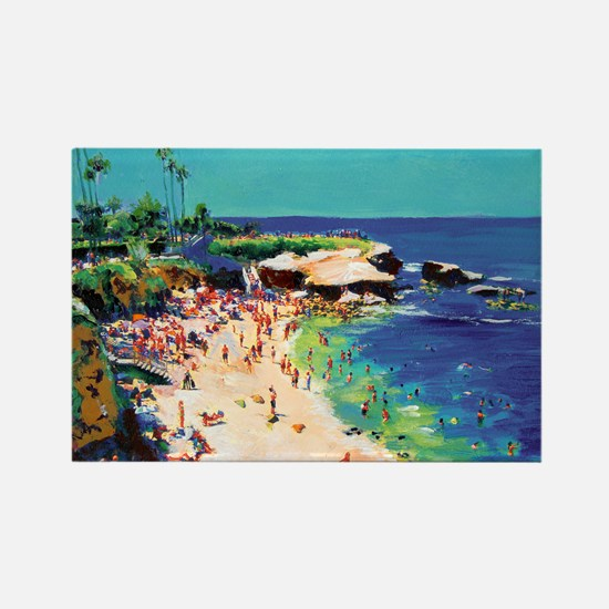 La Jolla Cove painting by RD Ricc Rectangle Magnet