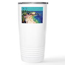 La Jolla Cove painting by RD Ri Travel Mug