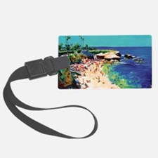 La Jolla Cove painting by RD Ric Luggage Tag