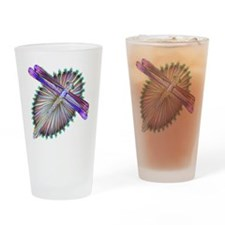 Dragonfly-Aurora Drinking Glass