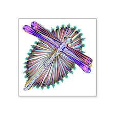 "Dragonfly-Aurora Square Sticker 3"" x 3"""
