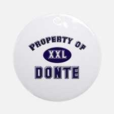 Property of donte Ornament (Round)