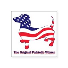"Original-Patriotic-Weiner Square Sticker 3"" x 3"""
