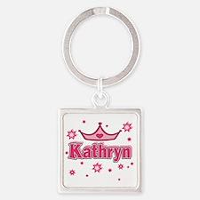 Kathryn Princess Crown Star Square Keychain